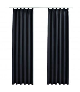 Scaun balansoar din piele artificială muzical negru cu albastru
