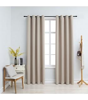 Pat 140 x 200 cm, lemn, tapițerie material textil, gri deschis