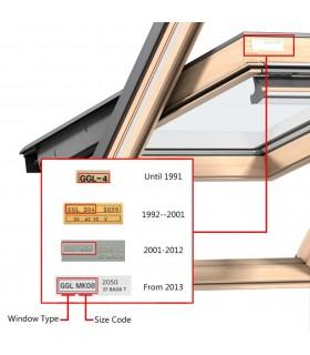 Fereastră batantă PVC 2 foi de sticlă cu mâner pe stânga 500 x 750 mm