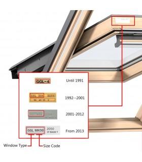 Fereastră batantă PVC 2 foi de sticlă cu mâner pe stânga 600 x 900 mm