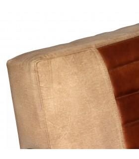 Taburet din material textil, 80 x 80 x 30 cm, gri închis