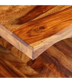 Masă de bucătărie, lemn masiv reciclat și oțel, 180x90x76 cm