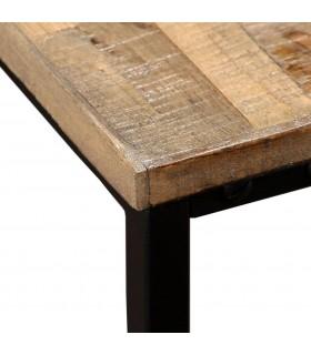 Cadru de pat cu 2 noptiere, lemn masiv de acacia, 140x200 cm