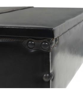 Puf tricotat manual, bumbac, 50 x 35 cm, negru