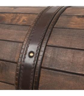 Șezlong cu perne, maro, lemn masiv de acacia